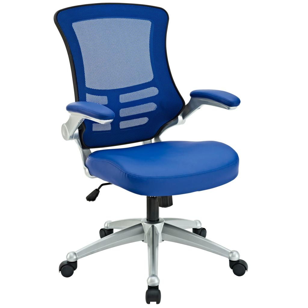 desk chair blue tufted rocking amazon lexmod attainment office with mesh