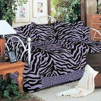 Zebra Lavender Daybed Cover Set: Amazon.co.uk: Kitchen & Home