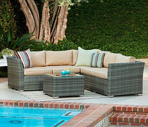 maze rattan natural milan corner sofa set green cushions milo baughman thayer coggin table best price for vancouver patio conservatory grey