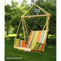 Deluxe rainbow hanging hammock swing chair