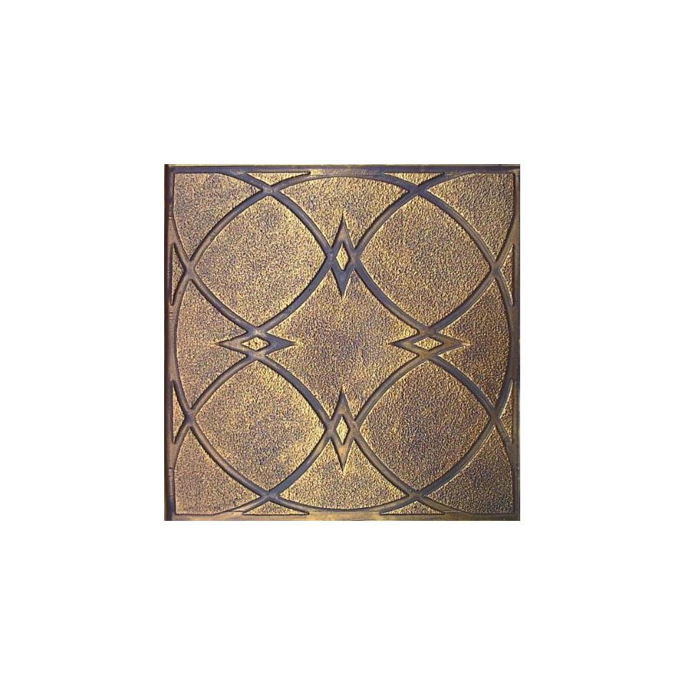 147 Decorative Drop In Ceiling Tile (24x24) Antique Gold