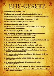 Urkunde Poster EHEGESETZ ca 40 x 60 cm Amazonde