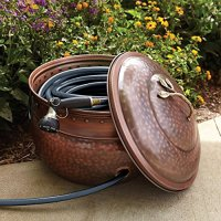 Amazon.com : Garden Hose Storage Pot with Lid : Lawn And ...