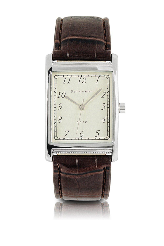 Bergmann Vintage Watches For Men Rectangle Case Retro