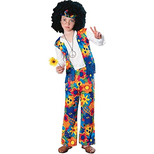 Big Boys' Hippie Costume Small