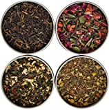 Heavenly Tea Leaves Tea Sampler Gift Set - 4 Bestselling Cans - Approximately 20 Servings of Tea Per Can