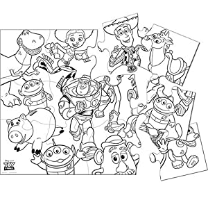 Amazon.com: Disney Toy Story 3 Jumbo Coloring Puzzle: Toys