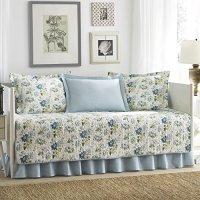 Laura Ashley 5-Piece Peony Garden Blue Daybed Cover Set ...