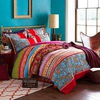 LELVA Boho Style Bedding Set Bohemian Ethnic Style Bedding ...