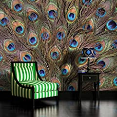 Peacock Feathers Wallpaper Mural by Consalnet