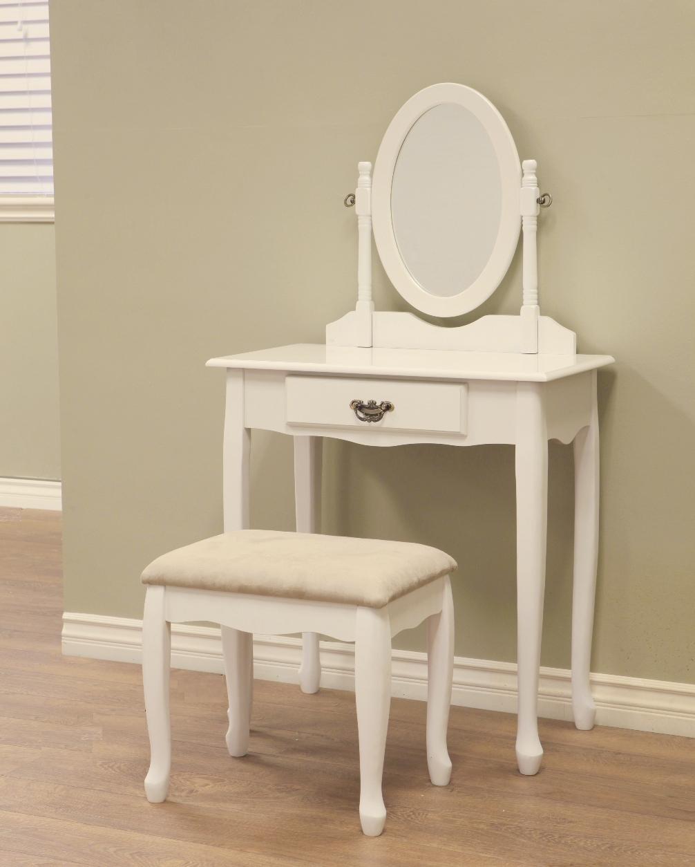 Vanity Dressing Table stool SET Bedroom furniture white