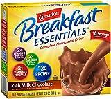 Carnation Breakfast Essentials, Rich Milk Chocolate Powder, 1.26 oz,  10-Count Envelopes (Pack of 6)
