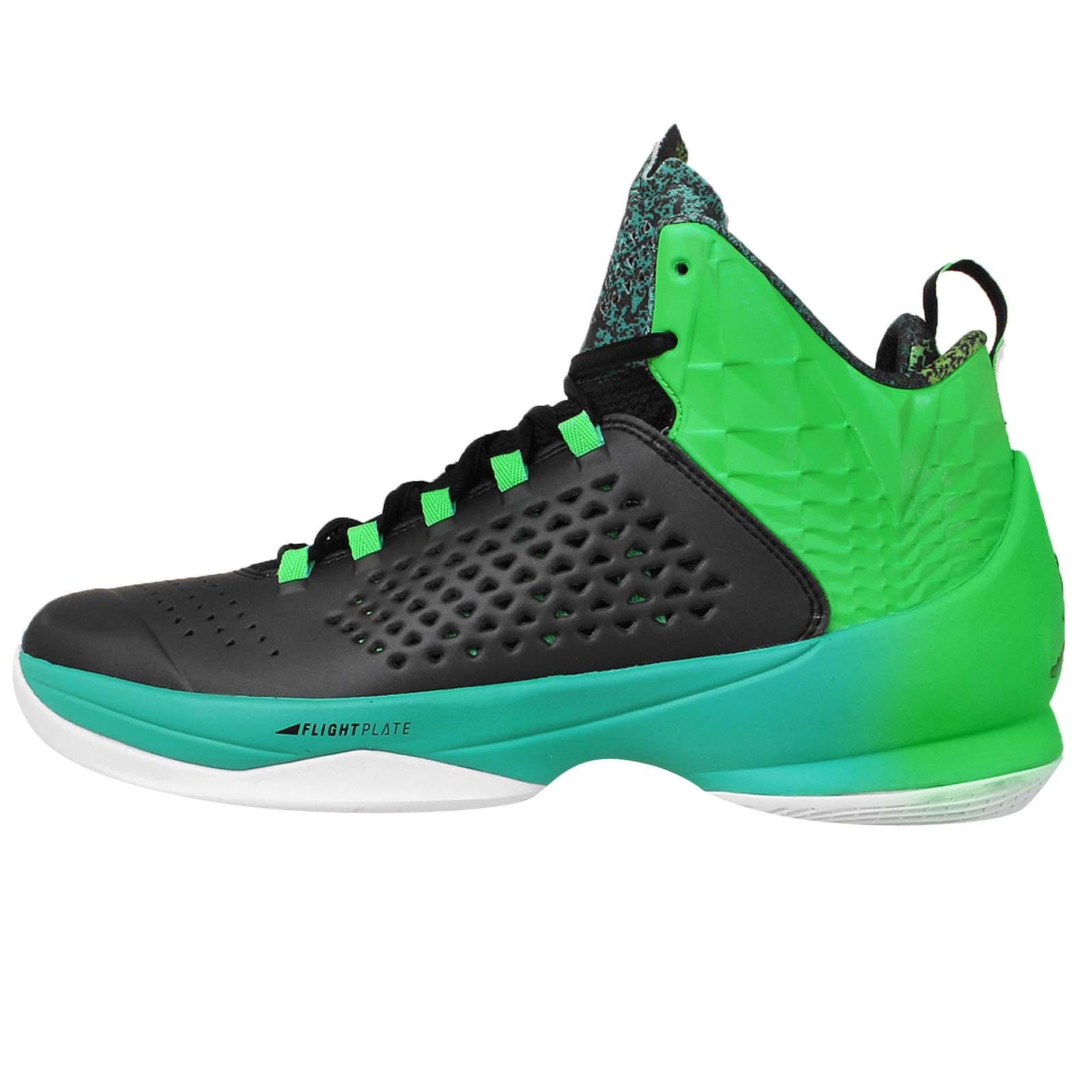 Jordan Men's Melo M11 X, BLACK/BLACK-LT GREEN SPARK-RTR
