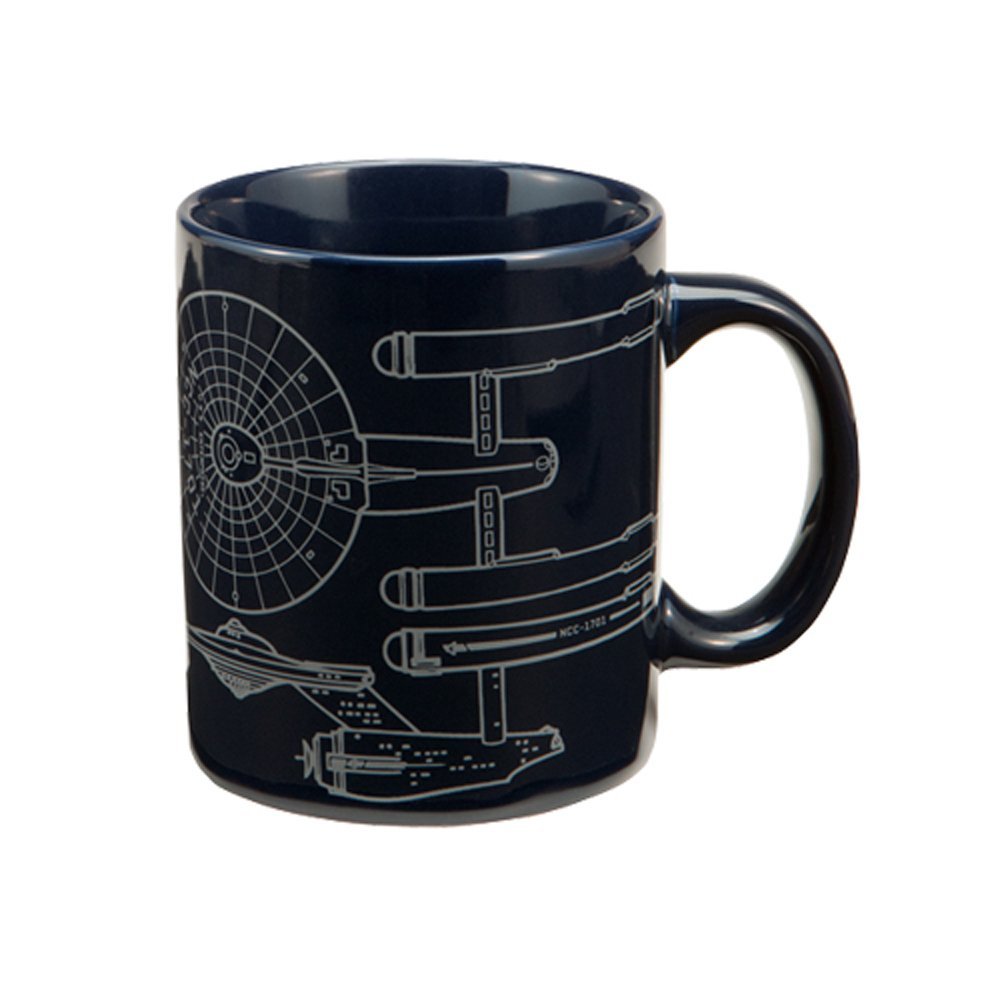 Star Trek Enterprise 12 oz Ceramic Mug, Blue