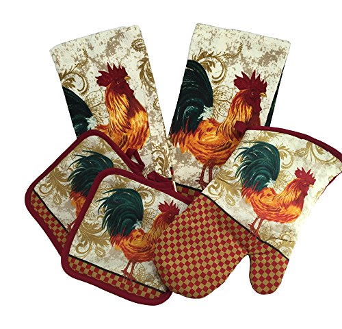 Can you help me find rooster themed kitchen towels