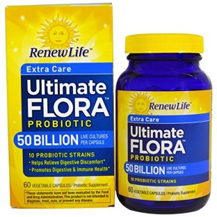 Renew Life Ultimate Flora Extra Care Probiotic 50 Billion (Formerly Critical Care), 60 Count