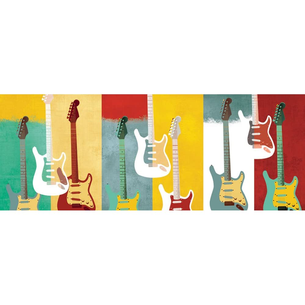 Hendrix Guitars Removable Panoramic Wall Mural