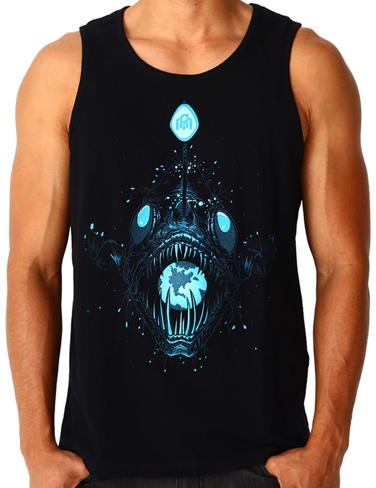 INTO THE AM Angler Glow in the Dark Rave Tank