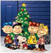 Amazon.com : Christmas Outdoor Decor Peanut Gang with Tree ...
