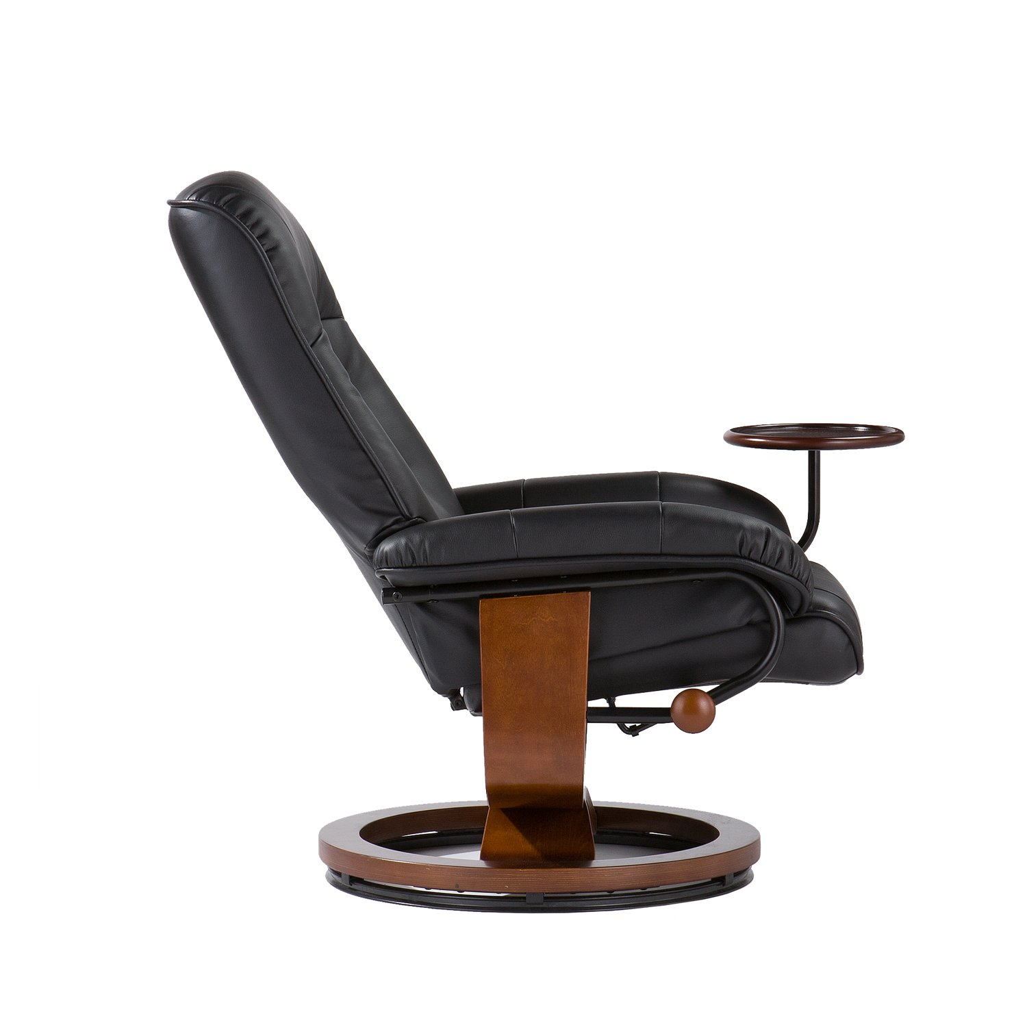 office recliner chair revolving in nepal adjustable black leather and ottoman