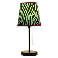 Limelights LT3000-ZBA Fun Prints Table Lamp, Black/Zebra ...