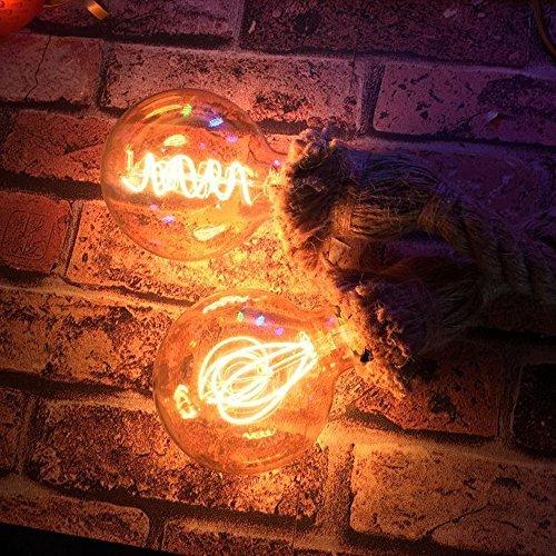 KINGSO E27 attacco Edison lampadario Vintage lampade canapacordalampadari corda luce senza
