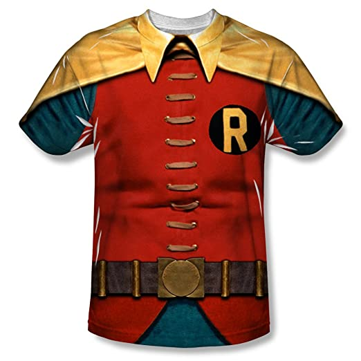 Robin Costume Adult Sublimation T-Shirt (Adult Medium)