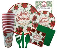 Christmas Disposable Dinnerware Set for Your Holiday Party ...