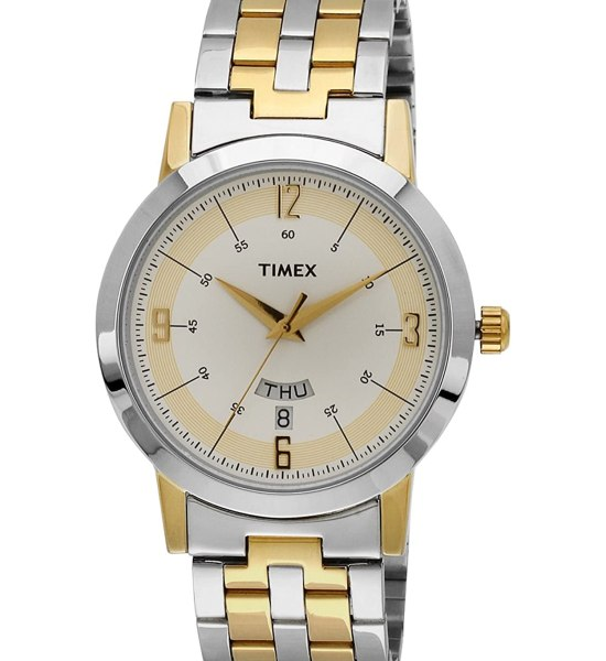Timex Classics Analog Silver Dial Men's Watch - TW000T120