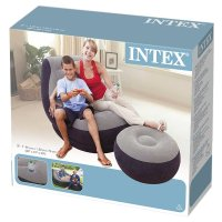 Intex Inflatable Ultra Lounge with Ottoman , New, Free ...