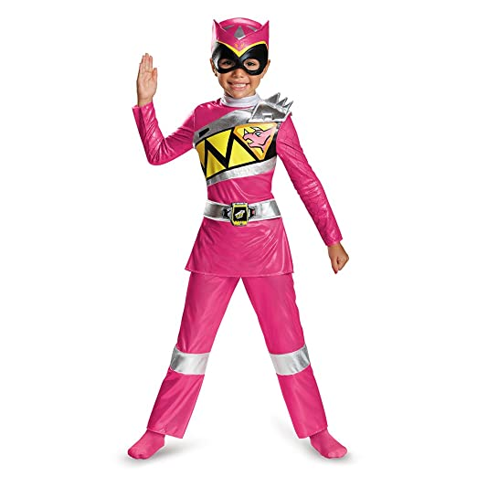 Disguise Pink Ranger Dino Charge Deluxe Toddler Costume, Medium (3T-4T)