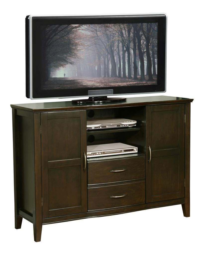 Amazoncom  Simpli Home Williamsburg Tall TV Stand 52W x 36H Dark Walnut Brown  Home