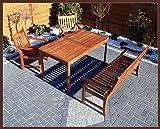 Massive Tischgruppe,Gartengarnitur,Sitzgruppe YELLOW BALAU Bangkirai