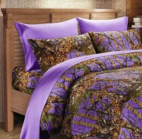 7 PC PURPLE CAMO COMFORTER AND SHEET SET QUEEN CAMOUFLAGE ...