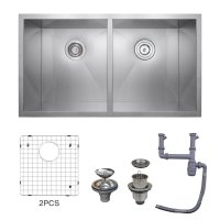 KES 32-Inch Kitchen Sink Stainless Steel Double Bowl ...