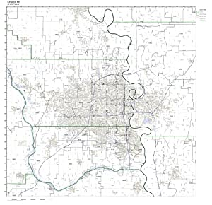 Amazon.com: Omaha, NE ZIP Code Map Not Laminated: Home