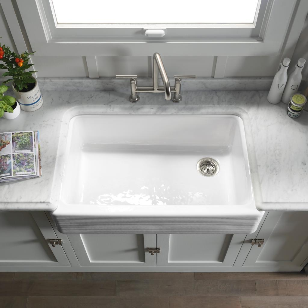Bowl Fits Large Pans And Slopes Slightly Toward The Drain To Minimize Water Pooling