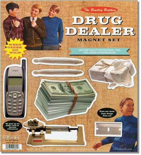 Blue Q Drug Dealer Magnet Set