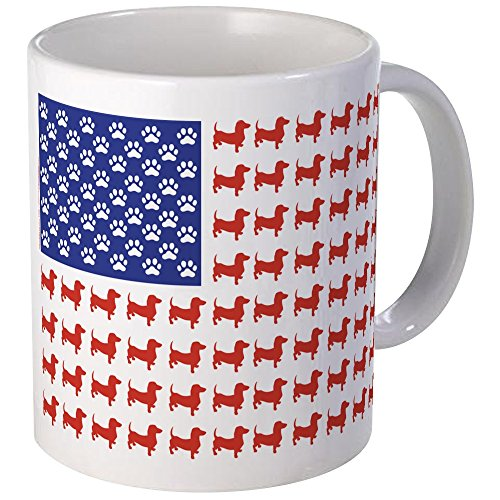 CafePress - Dachshund Patriotic Flag - Unique Coffee Mug, 11oz Coffee Cup