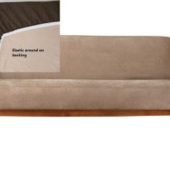 Full Size Sleeper Sofa Slipcover Neutral Pillows New Futon Cover Only Couch Covers Peat