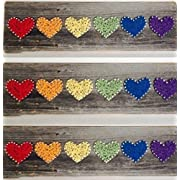 Rainbow Heart - A unique Wedding Anniversary Birthday Valentines Day Gay Pride Christmas new baby and house warming gift