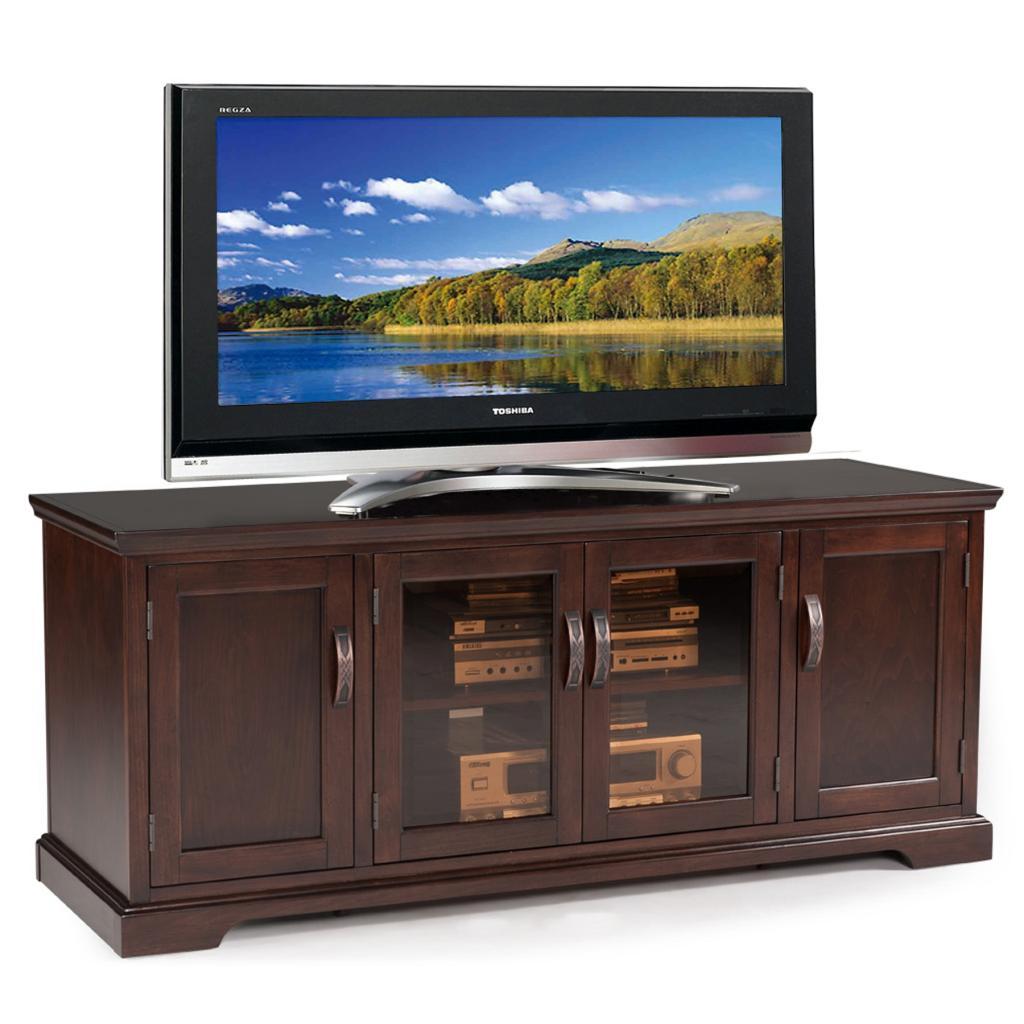 Amazoncom  Leick Westwood Cherry Hardwood TV Stand 60