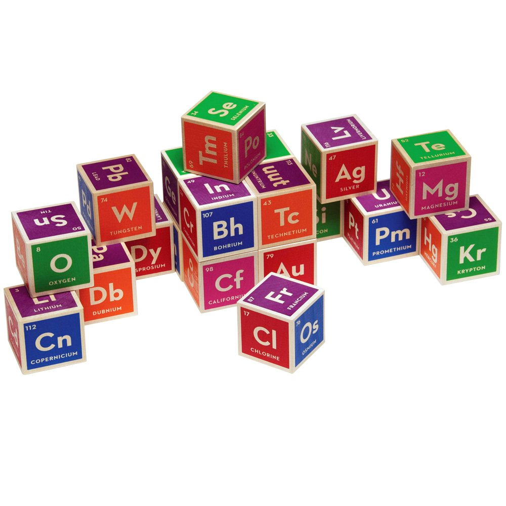 Gifts for lil girl geeks nerdy but flirty periodic table building blocks urtaz Images