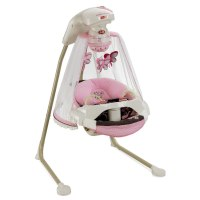 Fisher Price Butterfly Pink Mocha Mobile Baby Papasan ...