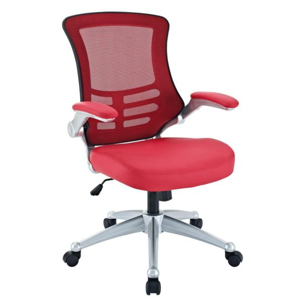 red office chair Amazon.com: LexMod Attainment Office Chair with Red Mesh