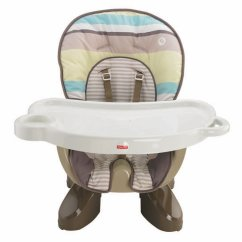Fisher Price Spacesaver High Chair Swing Steel Stripes New Free