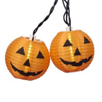 Halloween String Lights Decorating Tips - Grinning Ghouls