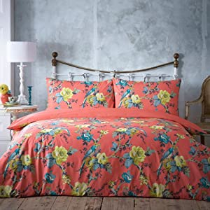 Coral 'Parrots' bedding set - Debenhams