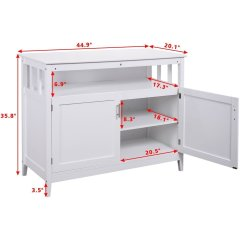 Kitchen Buffet Storage Cabinet With Wheels Costzon Sideboard Dining Server