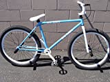 "New 2016 R4 Blue & White 26"" Bmx Freestyle Cruiser Old School Bicycle with Pegs"